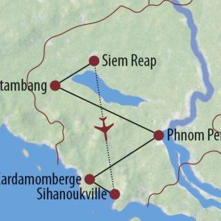 Karte Reise Kambodscha Stilvoll durch Südostasiens facettenreiche Tempelwelt 2020
