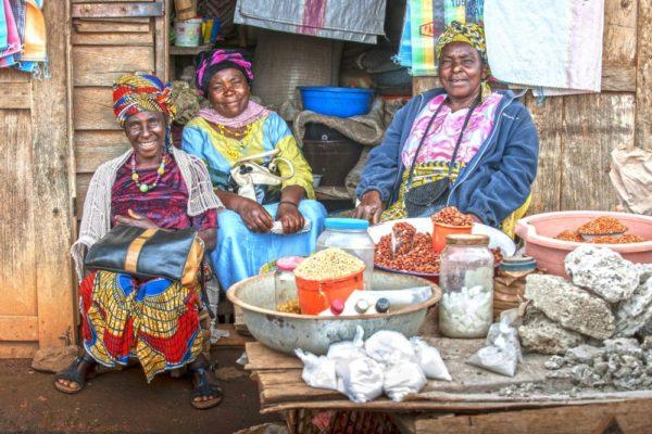 Marktszene in Kamerun