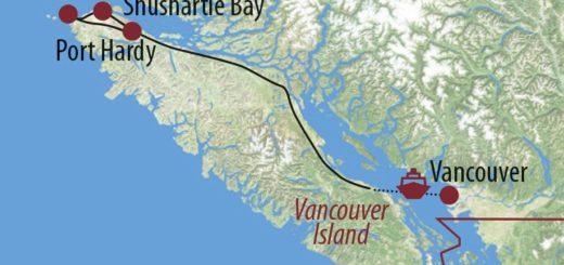 Karte Reise Kanada | British Columbia Erlebnis North Coast Trail 2020
