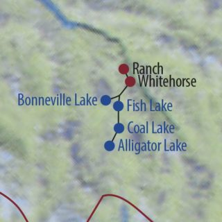 Karte Reise Kanada | Yukon Huskyabenteuer im Norden Kanadas 2020