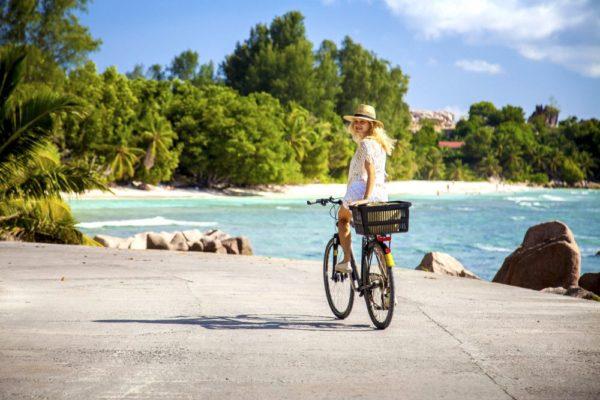 Erkundung von La Digue mit dem Fahrrad