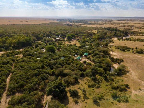 Mara Big Five Camp, Luftbild