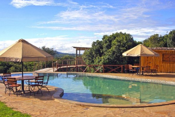 Pool mit grandioser Aussicht, Rhino Watch Lodge