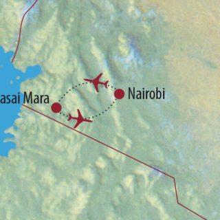 Karte Reise Kenia Professionelle Tier- und Naturfotografie 2020