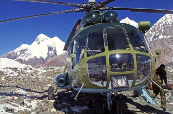 Hubschrauber im BC