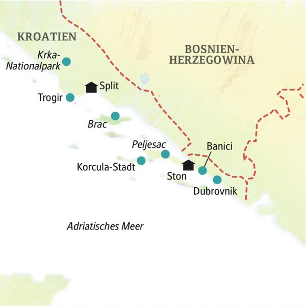 Kroatien deutschsprachig gefuehrte Studienreisen 2019