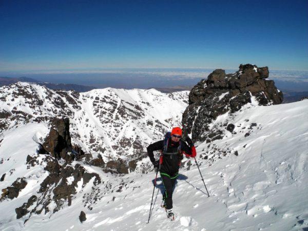 Kurz vor dem Gipfel des Jebel Toubkal.