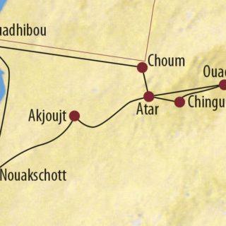 Karte Reise Mauretanien Im Land zwischen Atlantik und Nigerbogen 2020