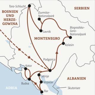 Elf Tage Montenegro für naturbegeisterte Traveller zwischen 20 und 35: mit dabei auch viele Singles und Alleinreisende Young Traveller