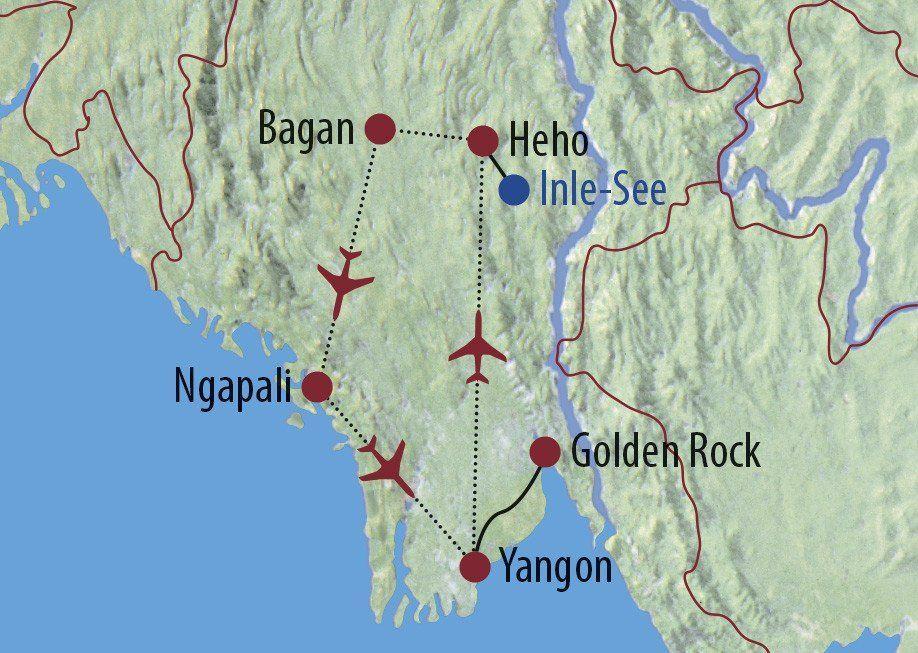 Karte Reise Myanmar Zwischen Tradition und Aufbruch in Burma 2020