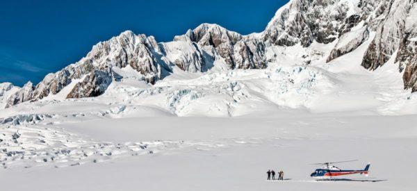 Helikopterflug über die Gletscherwelt
