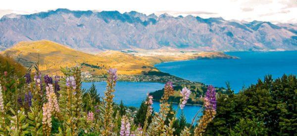 Blick über den Wakatipu-See und Queenstown