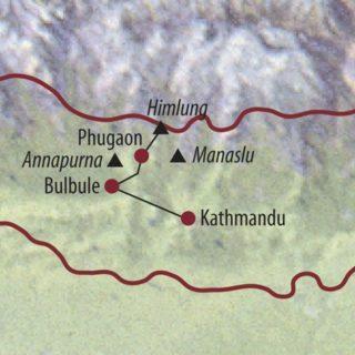 Karte Reise Nepal Himlung (7126m) 2020