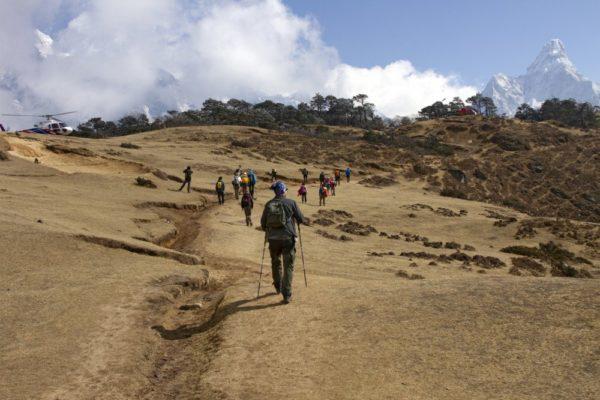 Weg zum Everest View Hotel oberhalb von Namche Bazar