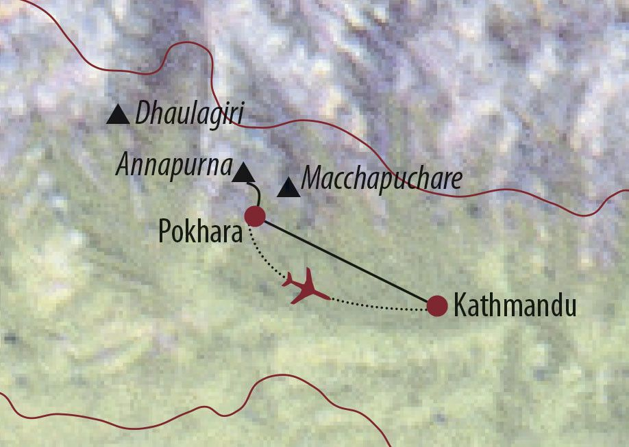 Karte Reise Nepal Zum Annapurna-Basislager 2020