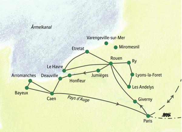 Die Höhepunkte der Normandie in zehn Tagen erleben