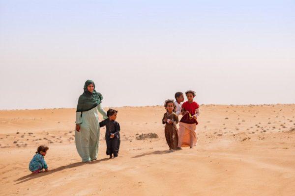 Beduinenfamilie in der Wahiba Sands
