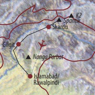 Karte Reise Pakistan | Karakorum Spantik (7027m) 2020