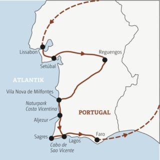 Quer durch Portugal in elf Tagen mit allen Highlights zwischen Lissabon und den spektakulären Felsformationen der Algarve Young Traveller