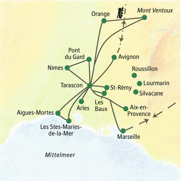 Eine geruhsame Studienreise zu den Höhepunkten der Provence