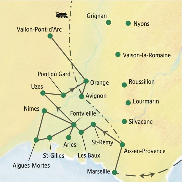 In der Provence das Kulturerbe der Römerzeit