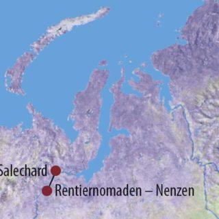 Karte Reise Russland   Jamal Zu Besuch bei den Rentierzüchtern von Jamal 2020