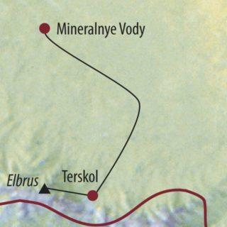 Karte Reise Russland   Kaukasus Elbrus (5642m) 2020