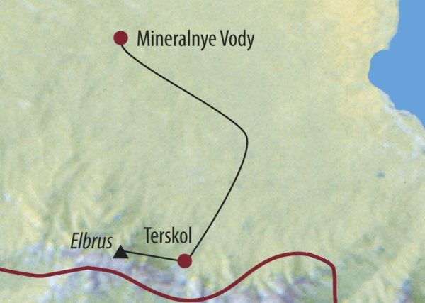 Russland | Kaukasus Elbrus (5642m) Skitour im Kaukasus Karte