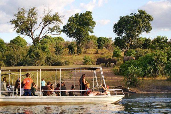 Bootsfahrt auf Chobe-Fluss