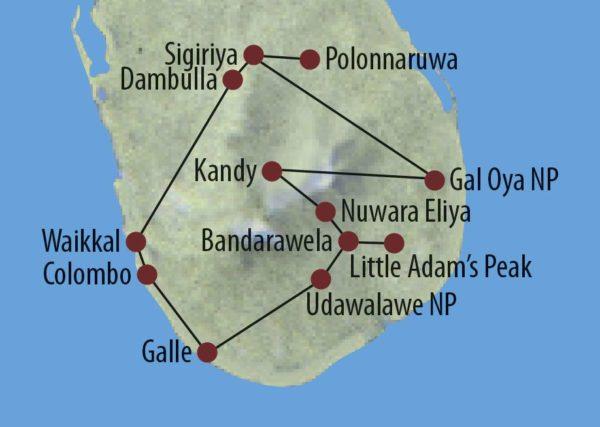 Sri Lanka Zum Kennenlernen Höhlentempel Dambulla Karte