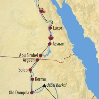 Karte Reise Sudan • Ägypten Entlang des Nil von Khartoum nach Kairo 2020