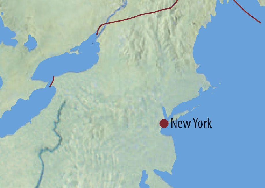 Karte Reise USA | New York New York! New York! 2020