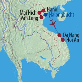 Karte Reise Vietnam Dschunke, Dschungel und Drachenheld 2020
