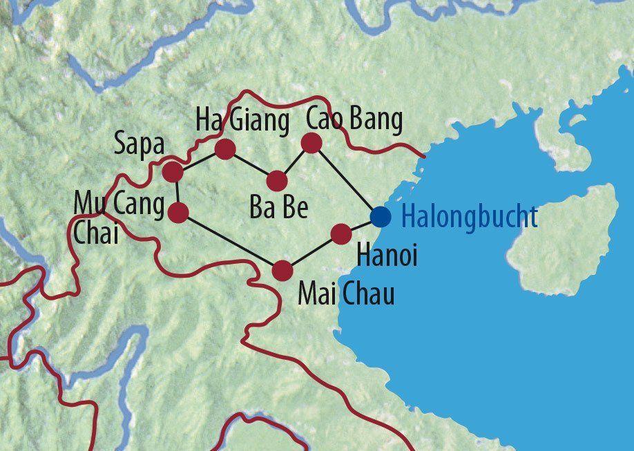 Karte Reise Vietnam Im Herzen der Reisterrassen 2020