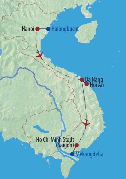Vietnam Im Land des aufsteigenden Drachen Tempelschrein Karte