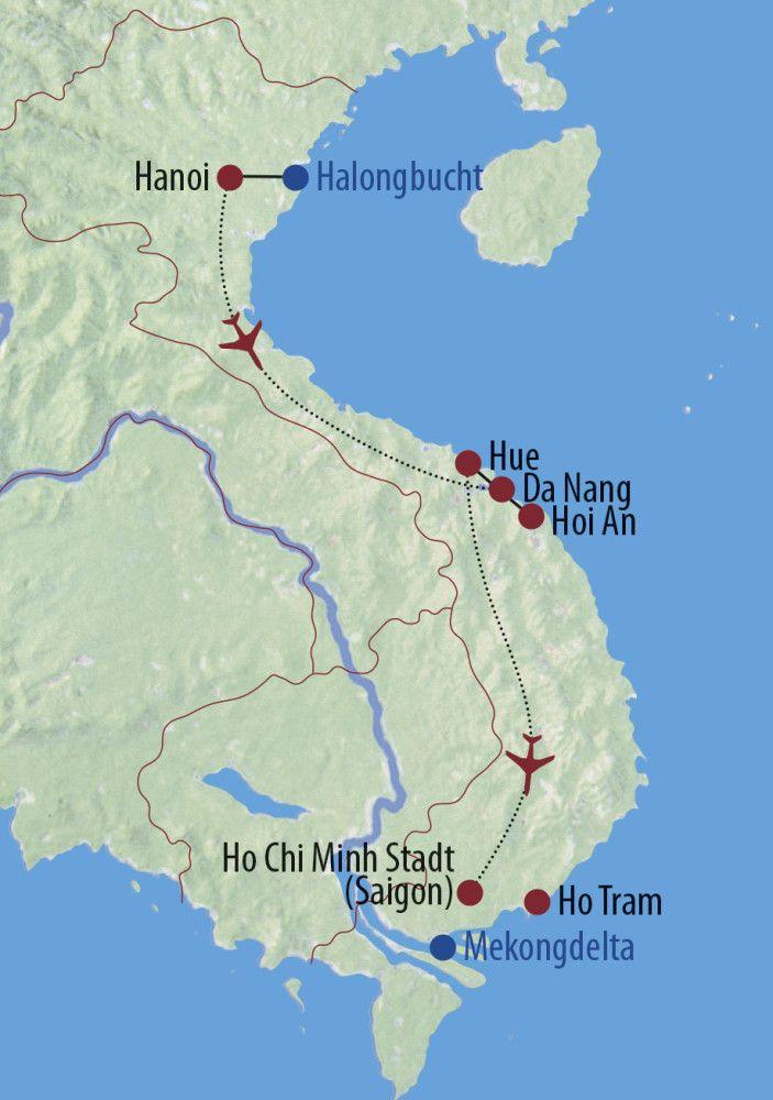 Karte Reise Vietnam Zu Besuch bei Onkel Ho und Miss Saigon | 2020 2020