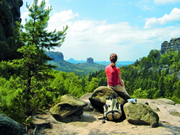 Blick von den Affensteinen - Yvonne Brückner / Tourismusverband Sächsische Schweiz e.V. - © Y. Brückner / Tourismusverband Sächsische Schweiz e.V.