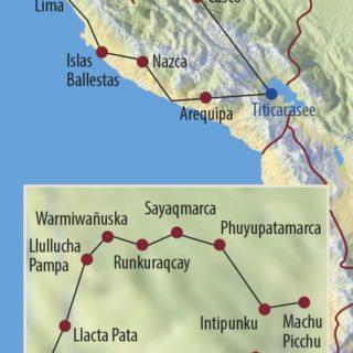 Karte Reise Peru Im Reich der Inka 2020