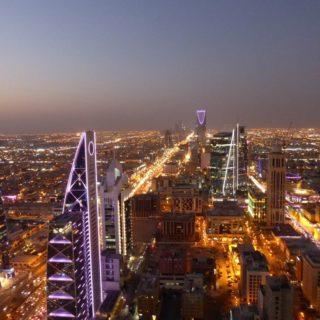 Blick auf das Kingdom Trade Centre am Horizont, Riad Reise Blick auf das Kingdom Trade Centre am Horizont, Riad 2020