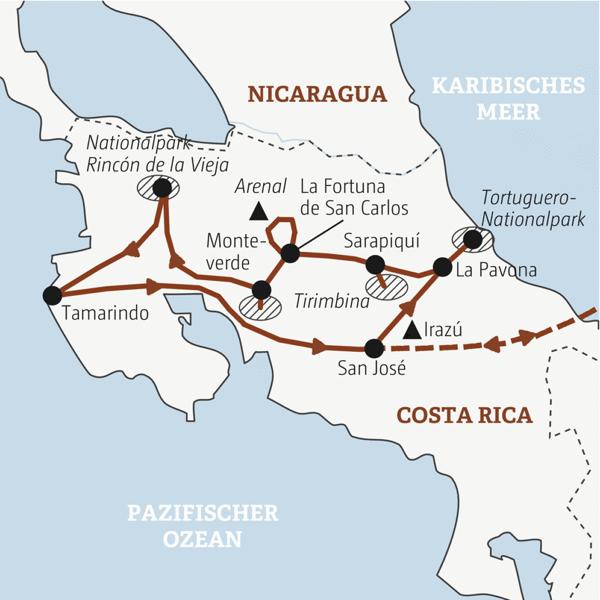 Costa Rica Rundreisen junge Leute 2019