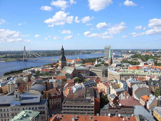 Blick auf die Hansestadt Riga - Delta Tours