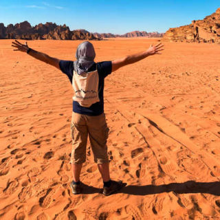 Zu Fuß im Wadi Rum - Sascha Thom