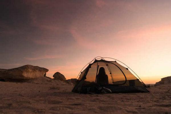 Romantik pur: Zelten am Strand - Dominik Ketz