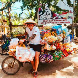 Während der Radtour im Mekong Delta - Paul Hemmerth