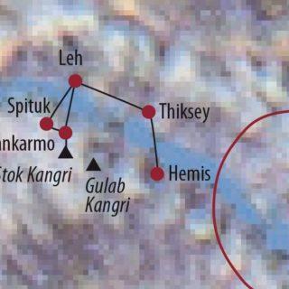 Karte Reise Indien | Ladakh Stok Kangri (6121m) 2020