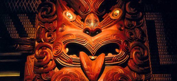 Traditionelle Maori-Maske