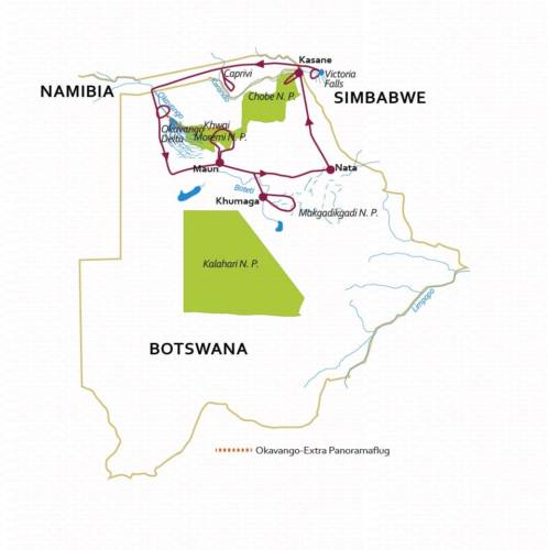 Botswana Reise 2020 KLASSIK 14 Tage – Deutsch geführt – max. 9 Teilnehmer – inkl. Flug