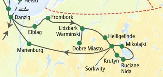 Polens Ostseeküste und die Masurische Seenplatte zu Fuß und per Schiff erleben