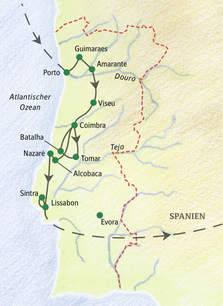 Portugal gefuehrte Rundreisen 2019