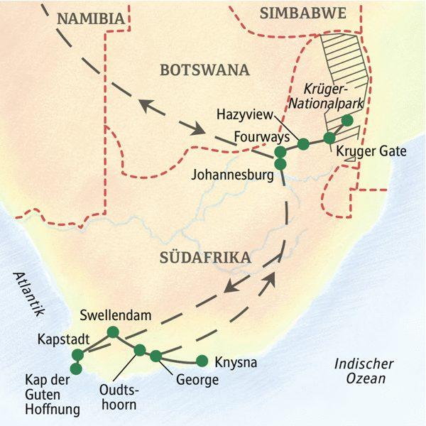 Südafrika gefuehrte Familienreise 2020